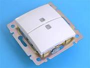Валена (бел)  ВС 28 2спи выключатель с зел.инд. 774428