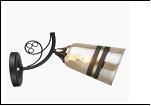 Бра 1-рожк. светильник 78746/1W (20) BK+GD E27 290*110*180 бра