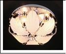 """Люстра """"зеркальная D=400"""" LED-RGB светильник потолочный 5319/4Y CR 4*19 E14 RBP  с ПДУ"""