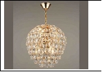 """Люстра """"хрусталь 6"""" .. светильник потолочный 45435/6 FGD E27 300*370"""