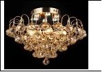"""Люстра """"хрусталь 6"""" LED-White светильник потолочный 45438/6+6 FGD E27 500*390  с ПДУ"""