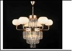 """Люстра """"хрусталь 8"""" LED-White светильник потолочный 45453/9+3 FGD E27 610*550"""