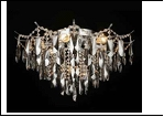 "Люстра ""хрусталь 8"" LED-White светильник потолочный 45474/8+6 CR E27 630*420  с ПДУ"