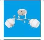 """Люстра """"рожки классик 2"""" .. светильник потолочный 7866/2WG WT+WG"""