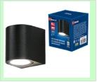 Св. влаг/защ наст.(фасад) черный LED   5,0Вт 4000K 220В UNIEL светильник ULU-S04A-5W/ BLACK  светодиодный уличный. Архитектурный накладной. Белый свет
