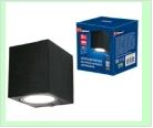 Св. влаг/защ наст.(фасад) черный LED UNIEL   5,0Вт . светильник ULU-S05A-5W/4000K  BLACK  светодиодный уличный Архитектурный накладной Белый свет (400