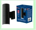 Св. влаг/защ наст.(фасад двухст.) черный LED UNIEL   6,0Вт . светильник ULU-S22B-2x3W/4000K IP65 BLACK  светодиодный уличный Архитектурный накладной Б
