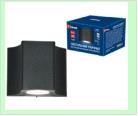 Св. влаг/защ наст.(фасад) черный LED   5,0Вт 4000K 220В UNIEL светильник ULU-S24A-5W/IP65 BLACK  светодиодный уличный. Архитектурный накладной. Белый