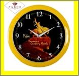 "6026-105 (10) Часы настенные круг d=29см, корпус желтный ""Уфа. Салават Юлаев"""