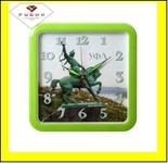 """7667-104 (10) Часы настенные квадрат 29х29см, корпус зеленый """"Уфа. Салават Юлаев"""""""