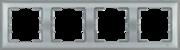 Болеро Серебро Рамка 4-я ИЭК Bolero РГ-4-БС горизонт  (1/10/50)
