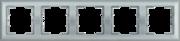 Болеро Серебро Рамка 5-я ИЭК Bolero РГ-5-БС горизонт  (1/10/100)