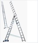 """Лестница алюминевая трехсекционная """"Алюмет"""" 3х 9 ступ.  (2,52/4,19/5,88м) (1/1)"""