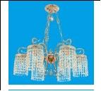 """Люстра """"хруст.на цепи 6"""" .. светильник потолочный B11053/6WG WT Потолочные хрусталь BenCrezo"""
