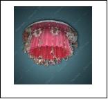 """Люстра """"зерк.круг.с хруст D=650"""" LED-White светильник потолочный 7121/16 (1) Светильник бытовой потолочный со светодиодами и дистанционным пультом (12"""