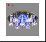 """Люстра Хай-Тек 7"""" LED-RGB светильник потолочный 85190/7 (1) Светильник бытовой потолочный со светодиодами и дистанционным пультом (12V 20W J4)"""