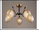 """Люстра """"рожки разн. 5"""" .. светильник потолочный 5303/5C (4) BK+COP E27 650*295"""