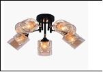 """Люстра """"рожки разн. 5"""" .. светильник потолочный 9721/5B-DA (4) BK+FGD E27 550*245"""