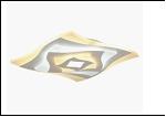 Св. комн. фигурный накл.  38Вт 3000К/6500К бел. Лассветас . светильник 25506/ (2) WT LED 15/23W 3000/6500K 300*60 люстра с ПДУ