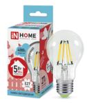 ЛСД Е27 ЛОН   5,0Вт 4000K 220В A60 ASD лампа светодиодная филамент прозр deco IN HOME