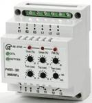 Реле напряжения, перекоса и последовательности фаз РНПП-301  трехфазное регулируемое DIN