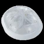 Св. комн. круг орех IP20 Isildar Е27 1108 .D=200mm 1106 (121)/(121) Свет  Капля потолоч. Орех тёмный 60Вт. d200 h75 таблетка (4шт)