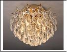 """Люстра """"хрусталь 6"""" LED-White светильник потолочный 5907/6+6E GD E27+LED 550*400  с ПДУ"""