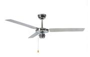 Вентилятор потолочный Ø 120 .  60Вт Потолочный вентилятор Mirror 122, диаметр 122 см, зеркальный хром, 3 лопасти, 3 скорости,  реверс