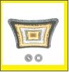 """Люстра """"LED 500х500мм .. светильник потолочный Управляемый светодиодный светильник GEOMETRIA BULB 90W S-500-CLEAR/BULB-220-IP44"""