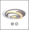 Св. комн. LED фигурный  60Вт бел. 3000К/6500К IP44 MAYSUN ... 500х500 Управляемый  светильник Spiral double  OV-500-white-220-ip44