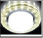 СТ LEDподсв. GX53 золото - белый круг  G248 W/GD белый/золото +3W(LED WHITE)Ambrella