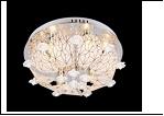 "Люстра ""зерк.круг.лепест. D=500"" LED-Blu светильник потолочный 7436/6Y CR d500 E14 RBP"
