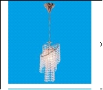 """Люстра """"хруст.на цепи 1"""" .. светильник потолочный 52200/1FGD WT Потолочные хрусталь"""