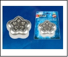 DTL-359 Цветок-B/Silver/5LED/3АAA Cветильник-ночник пушлайт, питание от 3-х батареек AAA (в комплект не входят). Серебристый. ТМ Uniel, шк 46904850916