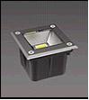Свет-к  квадратный 220V LED COB 1*5W   IP67 сатин-никель  UG3670 Wh