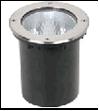 Свет-к  тротуарный круглый под энергосберегающую лампу 220V Е27 IP67 сатин-никель¶UG6511