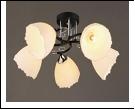 """Люстра """"рожки разн. 5"""" .. светильник потолочный 3490/5A (4) BK+CR E27 510*240"""