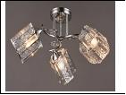 """Люстра """"рожки серебро 3"""" .. светильник потолочный 0907/3N (6) CR E27 540*250"""