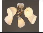 """Люстра """"рожки золото 5"""" .. светильник потолочный 3420/5A (4) WT+FGD E27 560*245"""