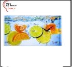 """5226-798 (6) Часы настенные """"Цитрусы в воде"""" """"21 Bek"""""""