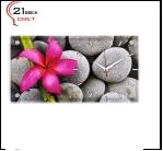 """5226-873 (6) Часы настенные """"Яркий цветок на камнях"""" """"21 Bek"""""""