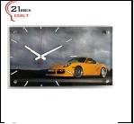 """6036-53 (6) Часы настенные """"Машина желтая"""" """"21 Bek"""""""