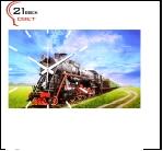 """6137-42 (6) Часы настенные """"Поезд""""""""21 Bek"""""""