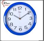 """6026 Bl (10) Часы настенные круг d=29см, корпус синий """"Классика"""" """"21Век"""""""