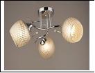 """Люстра """"рожки серебро 3"""" .. светильник потолочный 0246/3N (6) CR E27 520*230"""