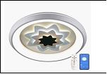 Св. комн. LED круг ... бел. 3000К/6500К IP20 Лассветас 29504\164W .D=500mm светильник 29504/164W (2) WT+BK  4/12/18/48W 6500/3000К 500*85 люстра (дим)