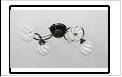 """Люстра """"рожки классик 4"""" .. светильник потолочный 5556/4N (4) BK E27"""