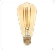 ЛСД Е27 ЛОН  13,0Вт 2700K 220В General филамент светодиодная Лампа GLDEN-ST64S-13-230-E27-2700 Золотая РЕТРО