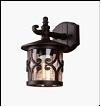 Св.улич. наст.(фасад) черный Е27 VIVID-LIGHT  40Вт ... светильник 028-W BK Садово-парковый   L54 W36 H38