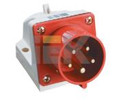 Вилка стационарная силовая ССИ-525 3Р+РЕ+N 32А с 3/К бел/красный IP44 IEK  (1/10/60)
